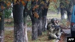 Украинские военные в Донецкой области. 9 сентября 2014 года.