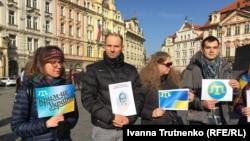 Під час акції у Празі, 24 лютого 2019 року