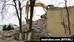 Снос зданий в Ашхабаде (архивное фото)