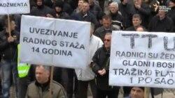 Tuzla: Radnici TTU ponovno protestovali
