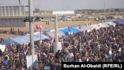 احدى المظاهرات في الانبار (الارشيف)