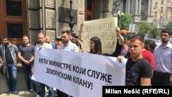 Protest u centru Beograda