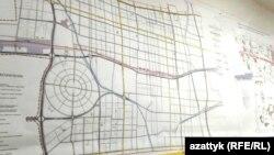 Желтой линией выделены предполагаемые маршруты легкорельсового транспорта.
