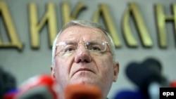Vojislav Sešelj, nakon izricanja oslobađajuće presude 31.mart 2016