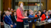 Олена Зеркаль викладає аргументи України в Міжнародному суді в Гаазі, фото 4 червня 2019 року