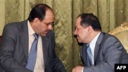 Nuri al-Maliki and Masud Barzani at a 2007 meeting