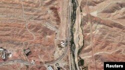 A satellite image of the Parchin military facility.