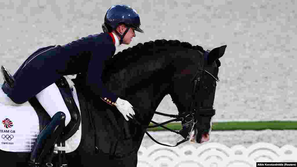 Charlotte Fry of Britain on her horse Everdale competes at Equestrian Park, Tokyo, Japan, July 24, 2021.