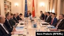 Sa sastanka predstavnika političkih partija, Podgorica, 21. decembar 2015