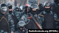 «Беркут» під час сутичок у Києві, 18 лютого 2014 року