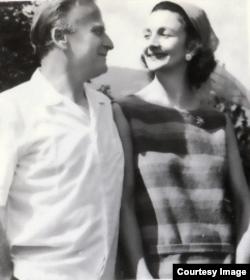 Yehudi & Diana Menuhin, la Gstaad (Foto: Ph.F. Fäch/Fiddler's Moll)