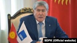 КСДПнын төрагасы Алмазбек Атамбаев.