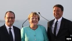Fransoa Oland, Angela Merkel i Mateo Renci
