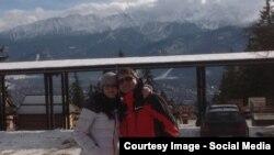 Крымский депутат Леонид Бабашов с супругой Татьяной на польском горно-лыжном курорте в 2013 году