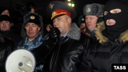 На Манежной площади собрались представители ОМОНа, ГУВД и Российского конгресса народов Кавказа