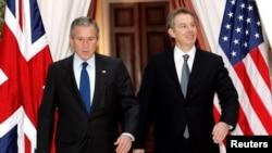 Predsjednk SAD i premijer Velike Britanije, George Bush i Tony Blair, u Briselu, 2005. godine