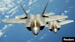 F-22 Raptor stealth jet fighters