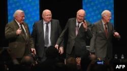 Lech Walesa, Mikhail Gorbachev, Frederik Willem de Klerk və Jimmy Carter