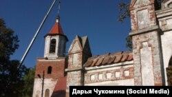 Бывшая лютеранская кирха в поселке Большаково