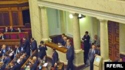 У парламенті України.
