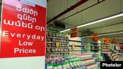 Armenia - A supermarket in Yerevan, 11Mar2015.