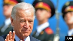 U.S. Vice President Joe Biden arrives at Kyiv airport