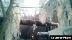Қаңтардың аязды күні. Приозерск қаласы, 7 қаңтар 2011 жыл.