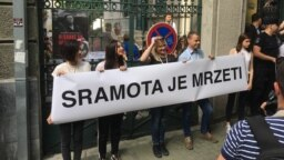 Aktivisti Inicijative mladih za ljudska prava u Beogradu