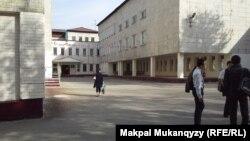 Мектеп ауласы. Алматы, 22 қазан 2013 жыл. (Көрнекі сурет)