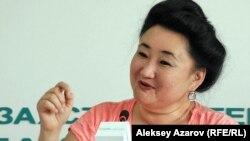 Арт-директор кинофестиваля «Евразия» Гульнара Абикеева. Алматы, 7 августа 2012 года.