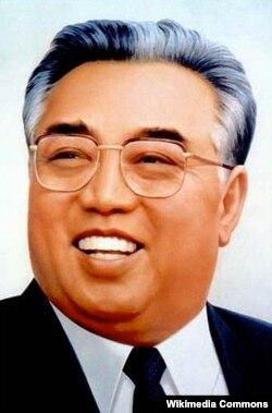 Посмертный портрет Ким Ир Сена был выпущен в 1994 году