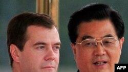 Dmitry Medvedev i Hu Jintao
