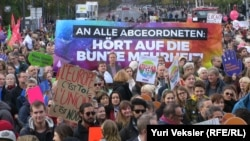 Demonstranti okupljeni u Berlinu