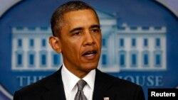 Барак Обама Ак Үйдө билдирүү жасаган учур 16-апрель, 2013