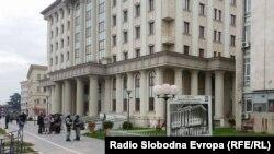"""Основниот суд Скопје 1 во Скопје, каде поранешниот директор на УБК Сашо Мијалков е повикан на распит за случајот """"Трезор""""."""