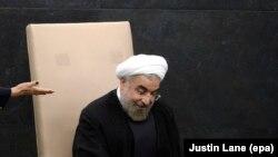 Президент Ирана Хасан Роухани в штаб-квартире ООН в Нью-Йорке.