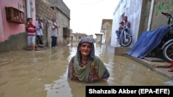 The flooding has affected many parts of Karachi.