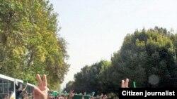 نمایی از تظاهرات گسترده مخالفان در «روز قدس» امسال