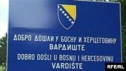 Tabla na ulazu u BiH