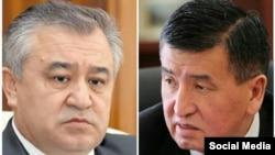 Ўмурбек Текебаев (чапда) ва Сўўрўнбай Жээнбеков