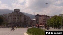 Скопскиот плоштад пред неколку години.