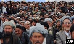 Предвыборный митинг одной из партий в Бамиане, Афганистан