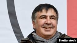 Бывший президент Грузии и бывший губернатор Одесской области Украины Михаил Саакашвили на митинге. Киев, 5 декабря 2017 года.