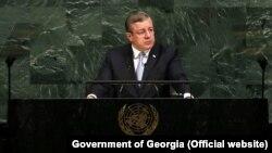 Большую часть своего выступления Георгий Квирикашвили посвятил социально-экономическому развитию страны за 25 лет