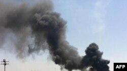 Дым над городом в иракской провинции Киркук.