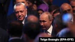 Рәҗәп Эрдоган һәм Владимир Путин, Истанбул, 8 гыйнвар 2019