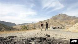 آثار لعمليات قصف تركي سابقة في دهوك