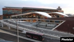Armenia - The new flight terminal of Yerevan's Zvartnots international airport, 16Sep2011.