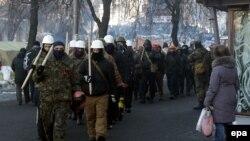Protestatari la Kiev, 31 ianuarie.