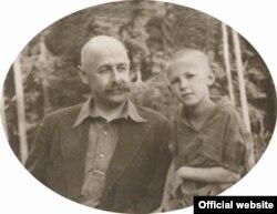 Михайло Полоз з дочкою Радою, 1933 рік